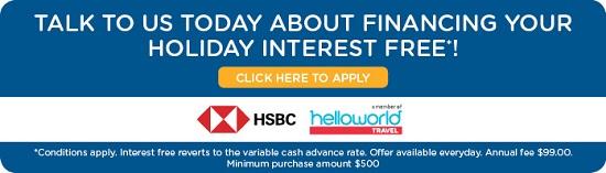 HSBC Interest Free Holidays Archives - Cruise World Holidays